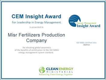 MOPCO wins the Leadership in Energy Management award from (CEM)